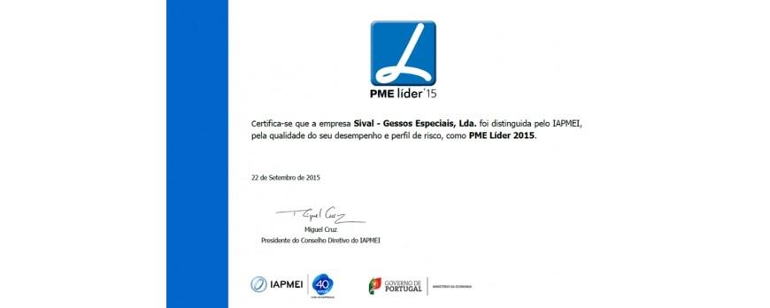 SIVAL - GESSOS ESPECIAIS volta a ser distinguida pelo IAPMEI como PME LÍDER.
