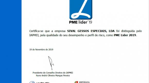 SIVAL - GESSOS ESPECIAIS PME LÍDER 2019